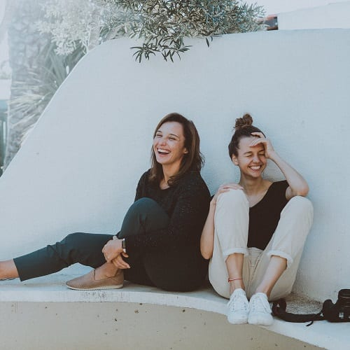 Carla Larson and Naomi Kjellberg
