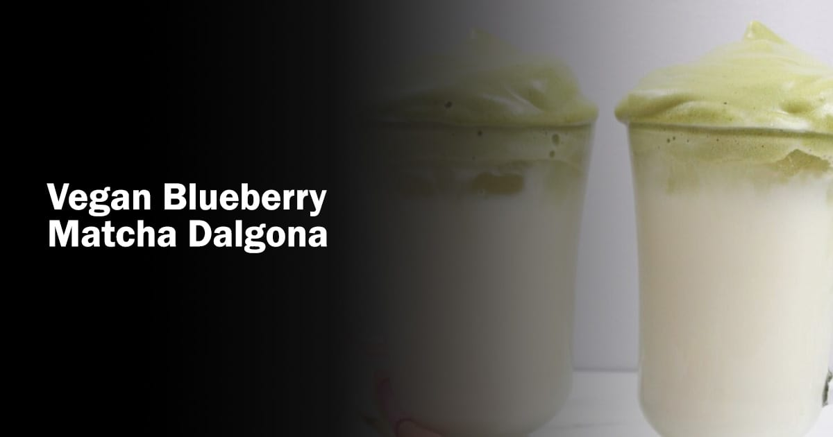 Vegan blueberry matcha dalgona